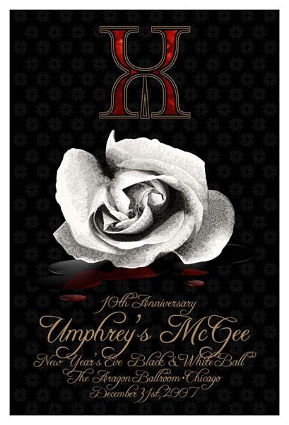 2007 Umphrey's McGee NYE Chicago Show Poster