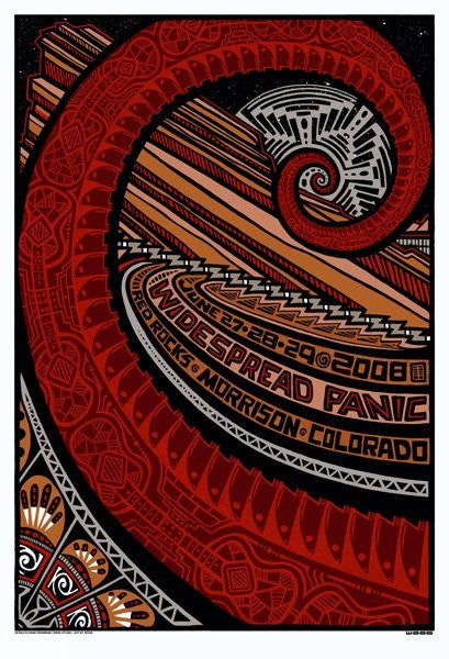 2008 Widespread Panic Red Rocks Run Show Poster - Zen Dragon Gallery