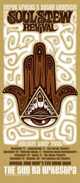 2008 Soul Stew Revival Holiday Tour Poster - Zen Dragon Gallery