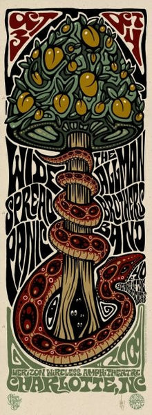 2009 Widespread Panic/The Allman Brothers Charlotte Show Poster - Zen Dragon Gallery