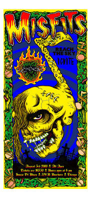 2000 Misfits Chicago House of Blues Show Poster - Zen Dragon Gallery