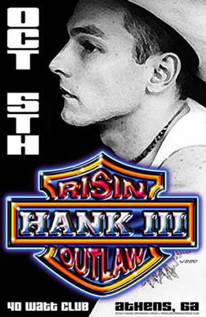 2000 Hank III Athens 40 Watt Litho - Zen Dragon Gallery