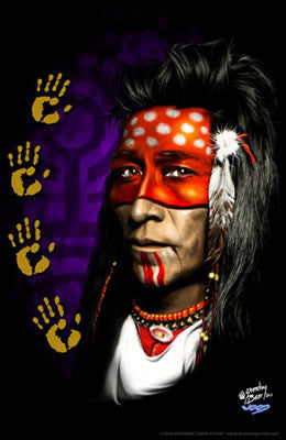 "2000 Native American ""Those Eyes"" Litho Art Print - Zen Dragon Gallery"