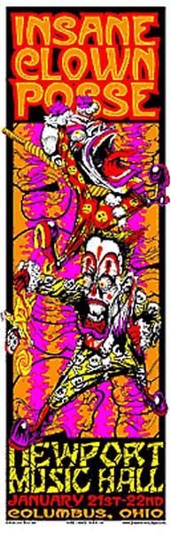 2000 Insane Clown Posse ICP Newport Music Hall, Columbus OH Show Poster - Zen Dragon Gallery