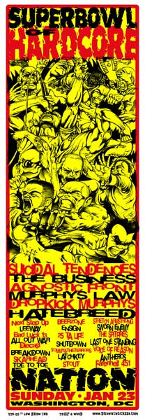 2000 Superbowl of Hardcore Metal Punk Music Festival Event Poster - Zen Dragon Gallery