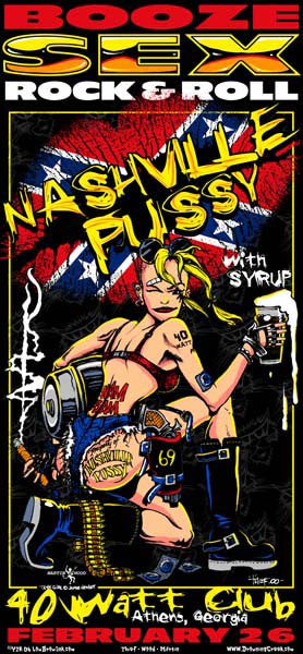 2000 Nashville Pussy Tank Girl 40 Watt Club Show Poster - Zen Dragon Gallery