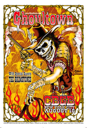 2002 Ghoultown CBGB NYC Show Poster - Zen Dragon Gallery