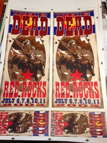 2003 The Dead Red Rocks Uncut Press Sheet - Zen Dragon Gallery