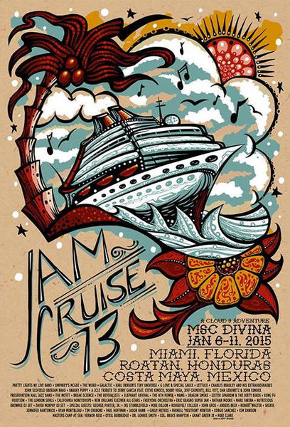 2015 Cloud 9 Adventures Jam Cruise 13 Single & Uncut Editions - Zen Dragon Gallery