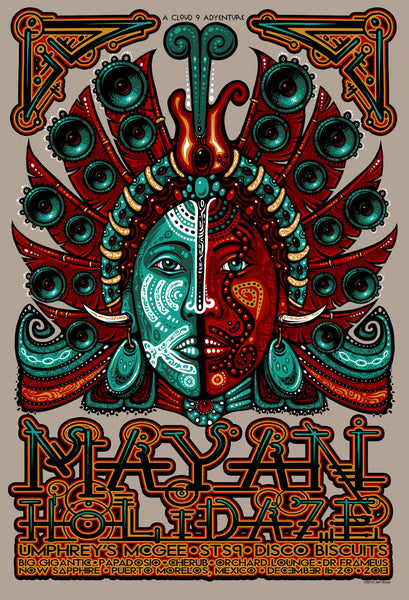 2013 Mayan Holidaze Event Poster - Zen Dragon Gallery