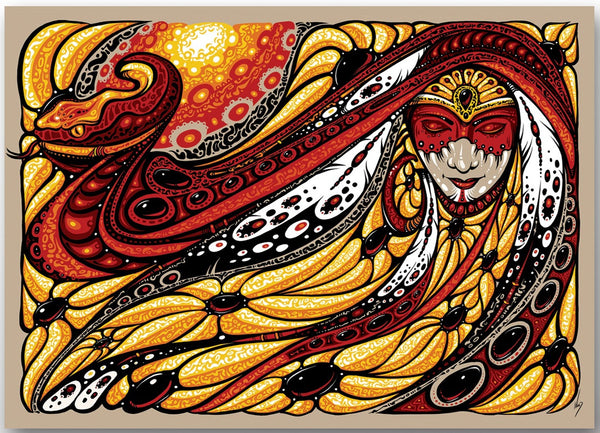 2017 Serpent Mother Sticker - Zen Dragon Gallery
