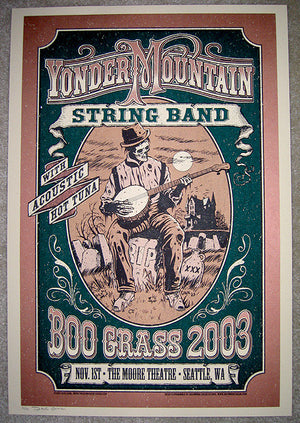 2003 Yonder Mountain String Band BooGrass Show Poster 2nd Night - Zen Dragon Gallery