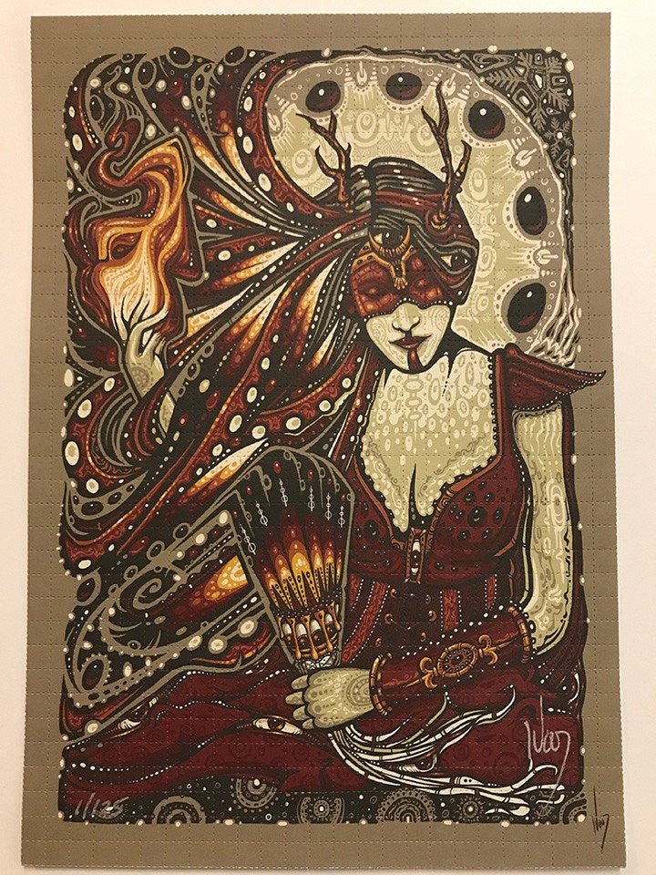2017 Yule Fire Woman Vanity Blotter Art - Zen Dragon Gallery
