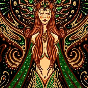 2021 Mermaid Goddess Art Print