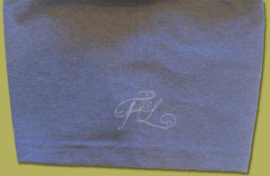 Zen Monk Design Short Sleeve Blue T-Shirt Small - Zen Dragon Gallery