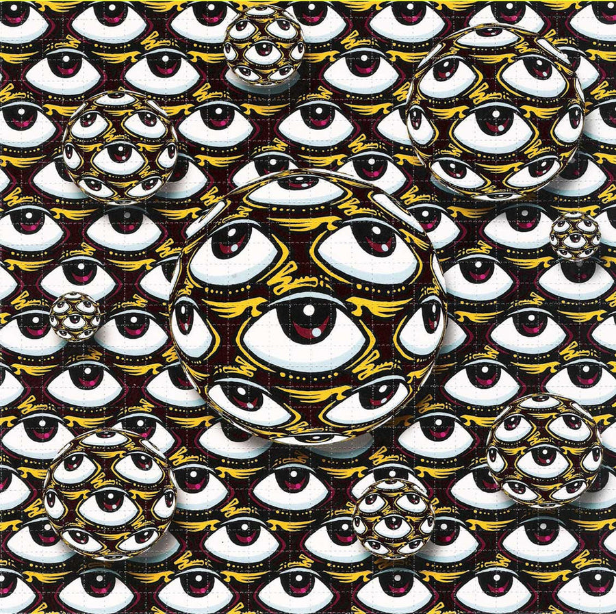 Flying Eyeball Blotter Art - Zen Dragon Gallery