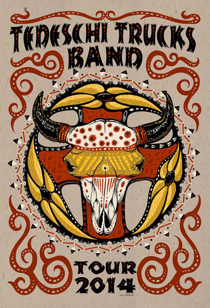 2014 Tedeschi Trucks Band Tour Poster Artist Edition & Variants - Zen Dragon Gallery