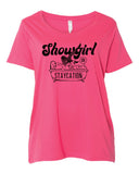 Showgirl on Staycation - Extended size Tees