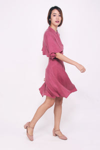 Back Flare Dress - Raspberry Pink