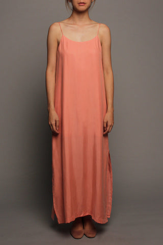 Basic Spag Dress (Coral Pink)