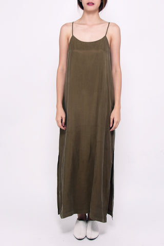 Basic Spag Dress - Olive