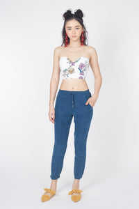Make Me Fly Bustier Top (Floral)