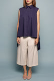 Long Cape Top (Navy)