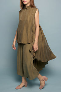 Long Cape Top (Olive)