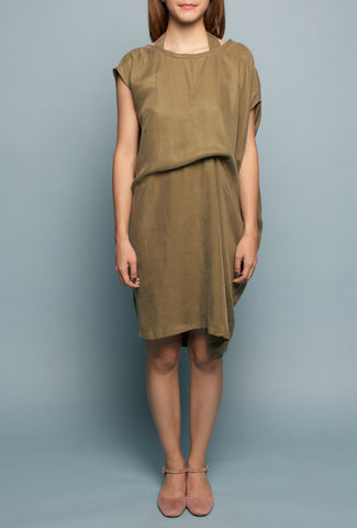 Convertible Tee Dress (Olive)