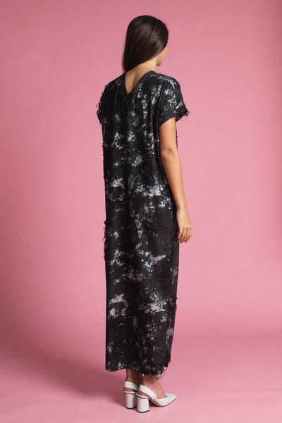 Kaftan Dress (Distressed Graffiti)