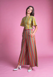 Palazzo Pants (Chilli Stripes)