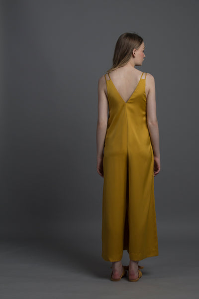 Geo Cut-out Jumpsuit (Royal Gold)