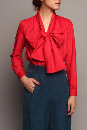 Long Sash Top (Red)
