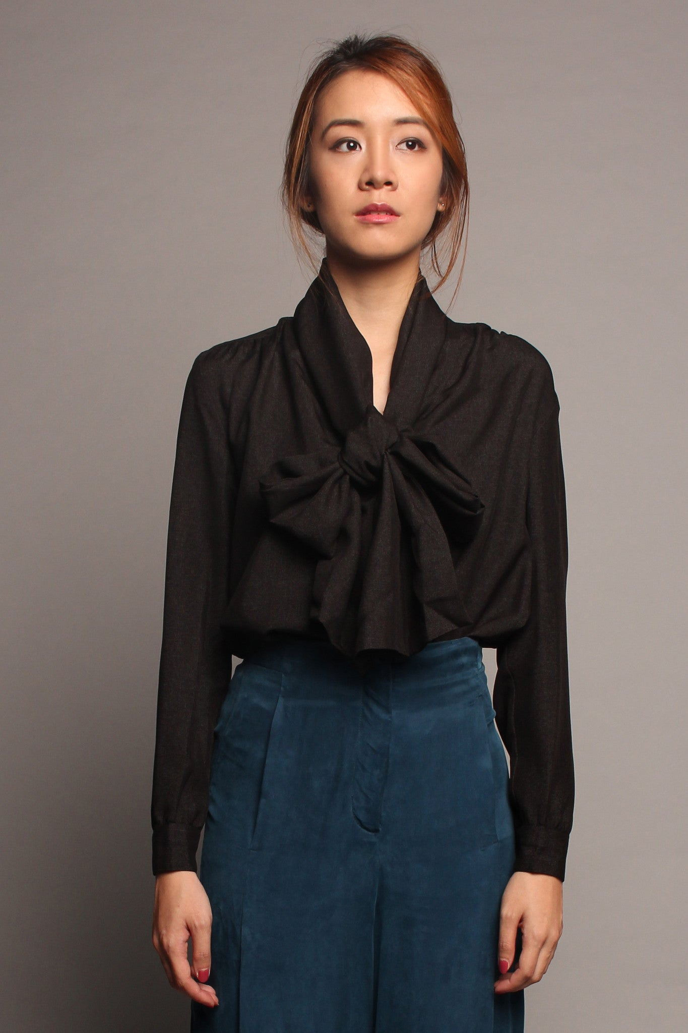 Long Sash Top (Black)