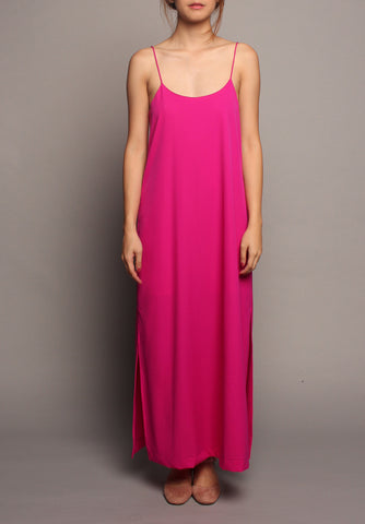 Basic Spag Dress (Fuchsia)