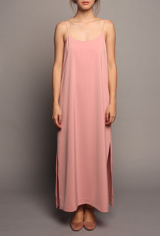 Basic Spag Dress (Pink)