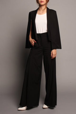 Split-Leg Pants (Black)