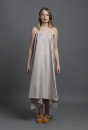 Tee Pee Dress (Satin Grey)