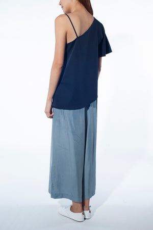 Asymmetrical Spag Top (Navy)
