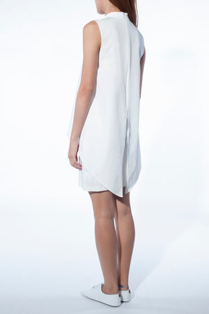 Cape dress (White)