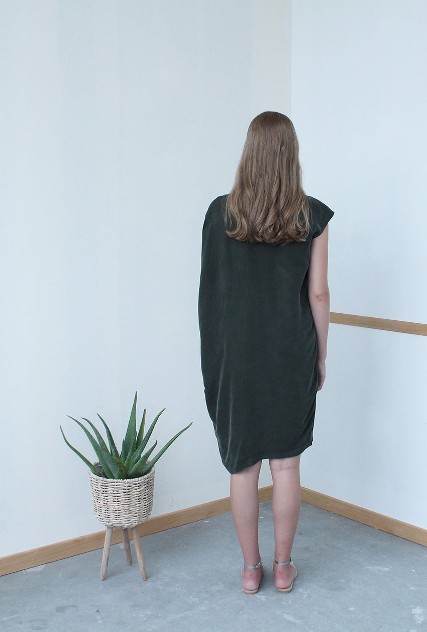 Convertible Tee Dress (Moss Green)