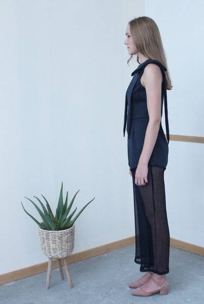 Long Sash Jumpsuit (Navy)