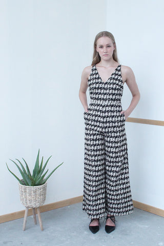 Thin Strap Jumpsuit (Black)