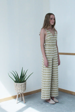 Thin Strap Jumpsuit (Gold)