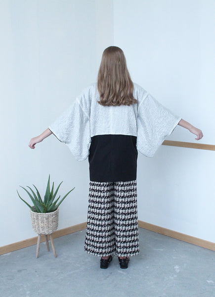 Yukata Overall (Reversible Black and Monochromatic)