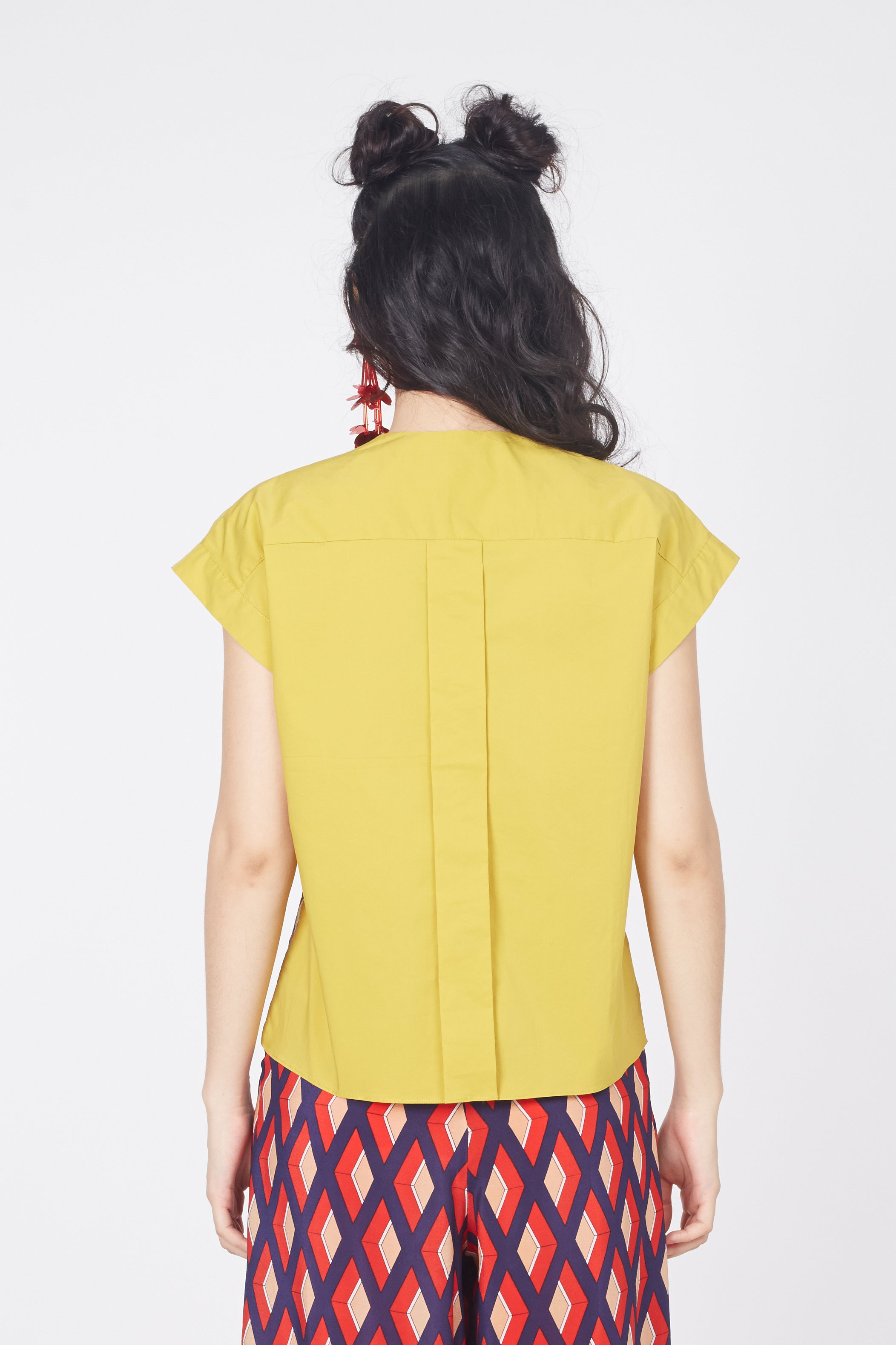 Double Flap Top (Mustard)