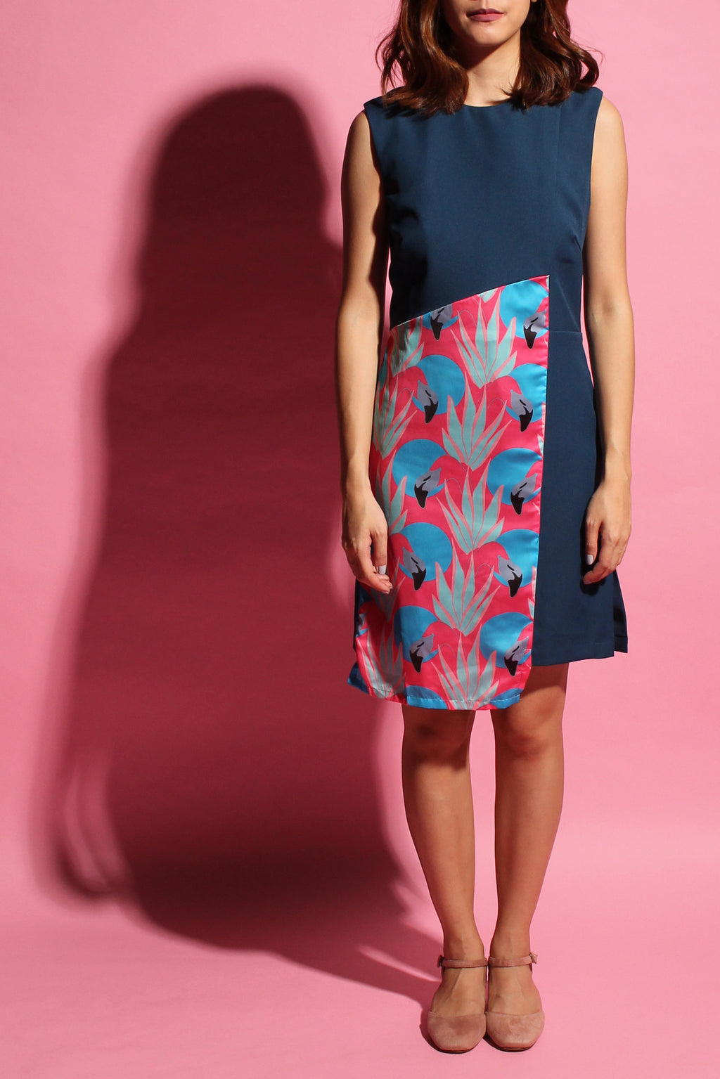 Crossback Flamingo Dress - Dark Teal