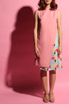 High-Neck Flamingo Dress - Pink