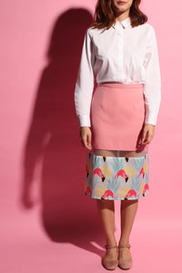 Flamingo Peekaboo Skirt - Pink