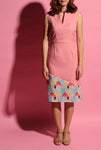 V-Neckline Flamingo Dress - Pink